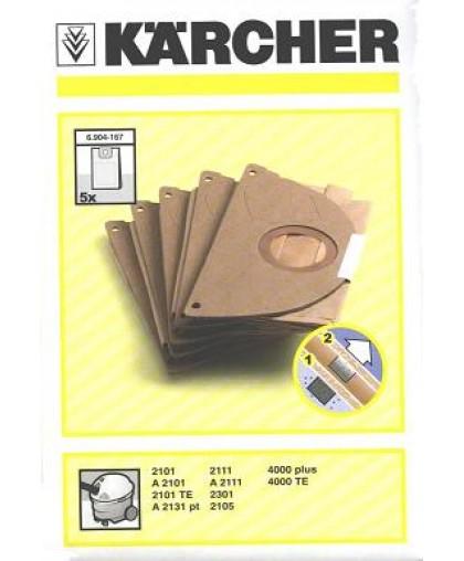 Фильтр-мешки для Karcher A2101-2131, 4000 (5шт, 6.904-167.0)